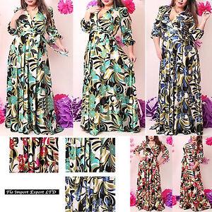 Vestito-Donna-Fantasia-Floreale-Taglie-Grandi-Woman-Oversize-Dress-OS120013