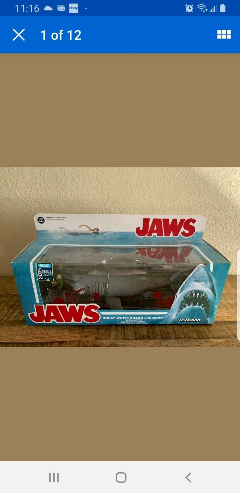 JAWS Funko Reaction Great Weiß Shark & Quint Bloody Convention Exclusive 2015