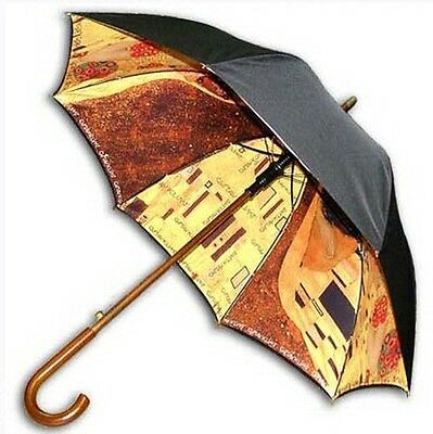 "Klimt ""KISS"" double sewing long size automatic umbrella"