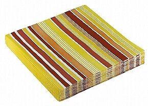 Streifen Servietten Farbwahl Tisch Dekoration gestreift Frühling Sommmer Garten