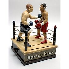 SP2380 - Battling Boxers Die Cast Iron Mechanical Coin Bank