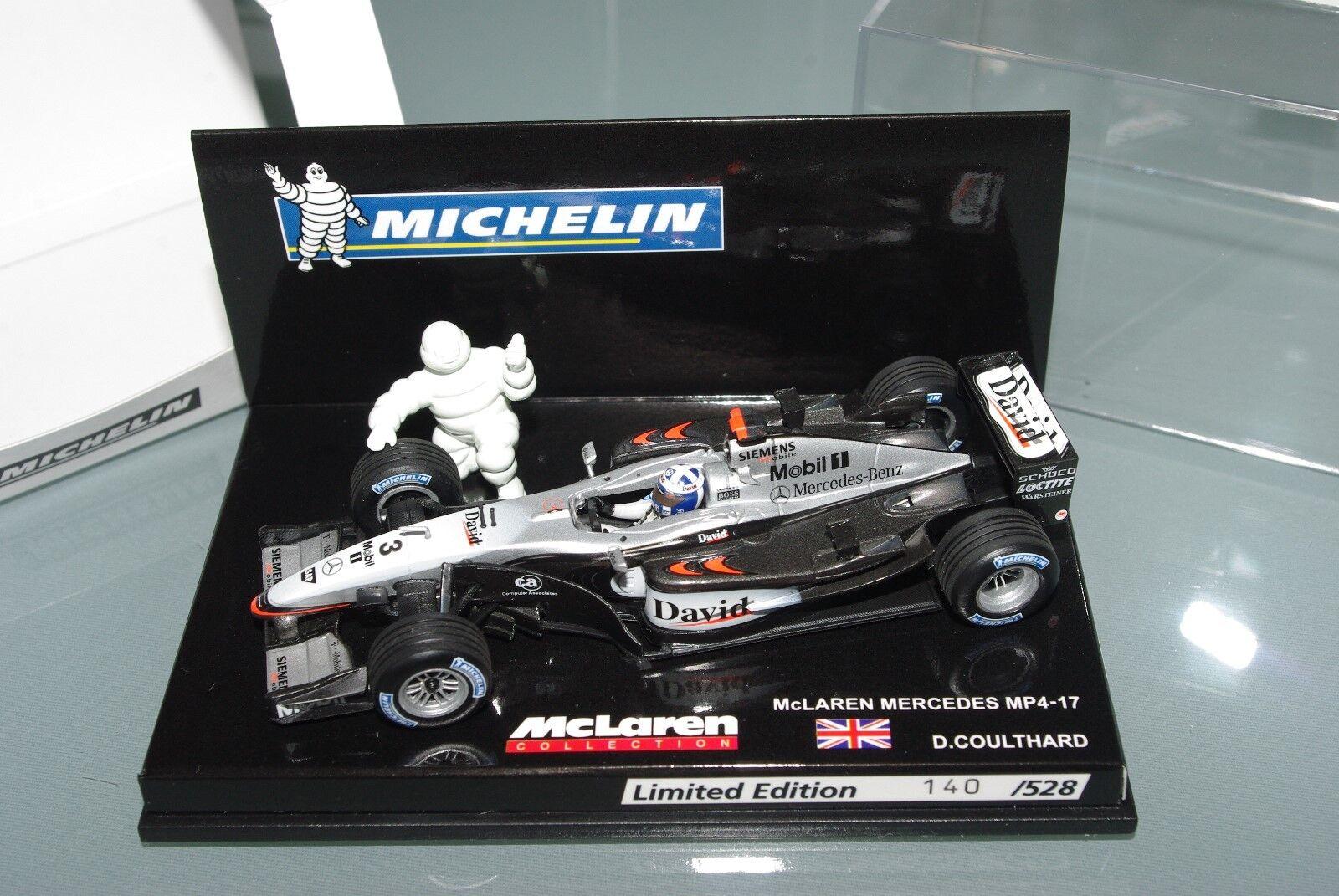 Minichamps F1 1 43 McLAREN MP4 17 MICHELIN LIMITED EDITION 528 pcs COULTHARD