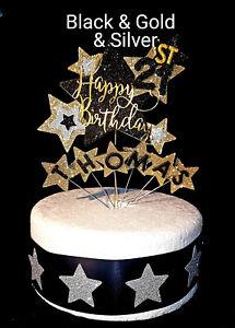 Sensational Starburst Birthday Cake Topper Any Age A Name 1St 18Th 21St 30 Funny Birthday Cards Online Bapapcheapnameinfo