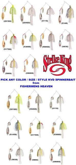 Strike King KVD Spinnerbait All 3//8oz Popular Colors 1A Lot of 3
