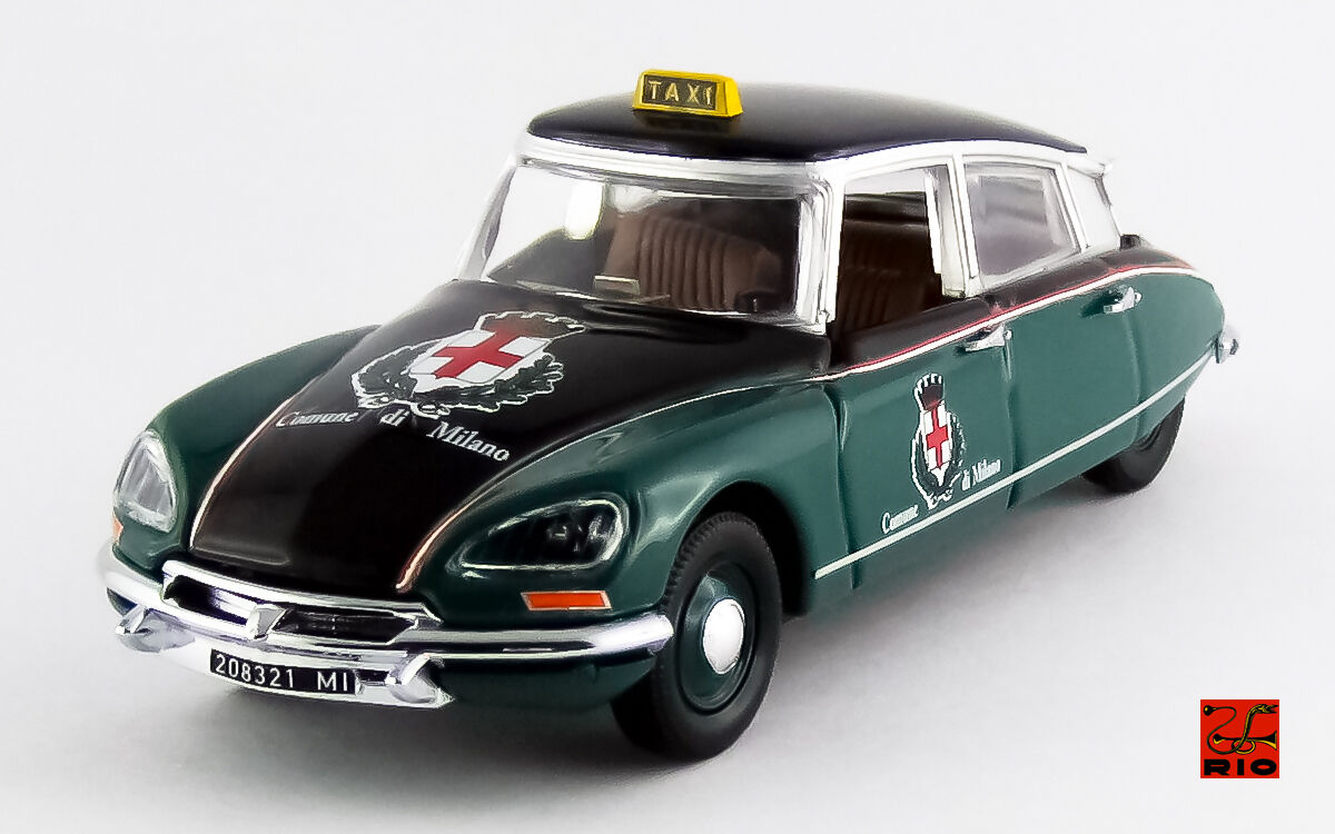 Citroen DS 21 Pallas Taxi Milano 1970 1:43 Model RIO4506 RIO