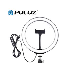 SALE-PULUZ-PU392-6-2-inch-LED-Ring-Light-in-Round-Base-Desktop-Mount-Black