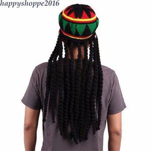 Jamaican Rasta Knit Hat Casual Men Handmade Crochet Reggae
