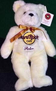 Hard-Rock-Cafe-2002-Large-14-034-034-PETER-034-Teddy-BEARA-5-5-White-Bear-PROTOTYPE