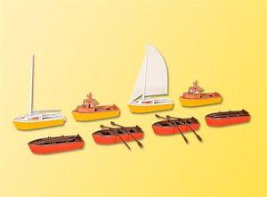 HS  Kibri 39159 Set Boote 2 Segelboote 2 Motorboote 4 Ruderboote