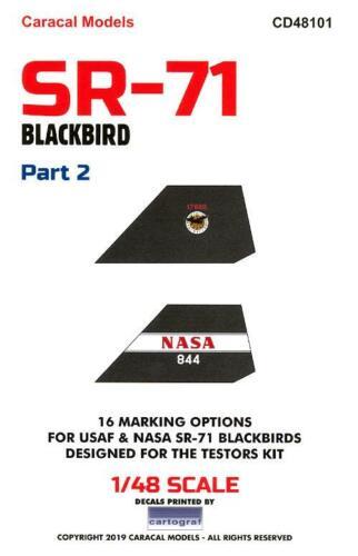 Air Force /& NASA Caracal Decals 1//48 LOCKHEED SR-71 BLACKBIRD Part 2 U.S