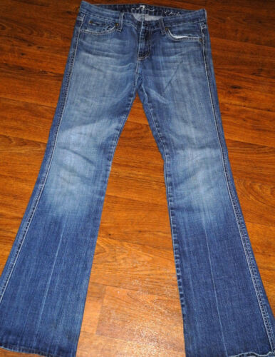 """7 For All Mankind /""""A/"""" Pocket Boot Cut Women/'s Black Blue Jeans 25 26 27 28 29 32"""