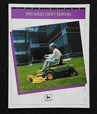 1991 1992 Genuine John Deere F510 F525 Front Mower Sales Brochure Minty