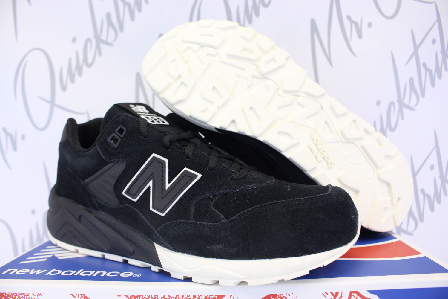 NEW BALANCE 580 SZ 8 GREY LIFESTYLE TONAL PACK BLACK GREY 8 WHITE MRT580BV 2638cf