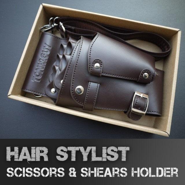 Hair Stylist Shears Pouch Salon Wallet Scissors Tool Bag Holder Men's Holster