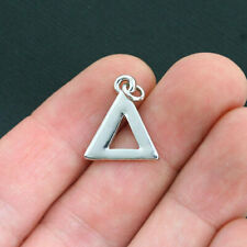 Silver Plated Charms 5 Pieces 8112 TierraCast Delta Greek Letter