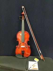Caraya-Brand-New-3-4-Size-Violin-w-Spare-Strings-Bow-Foam-Case-Rosin-Full-Set