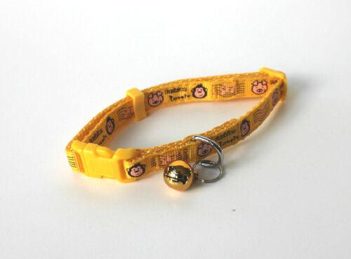 "USA SELLER Cat Dog Puppy Nylon  Monkey /& Pig Collar Bell Small Pet Neck 7/"" 11/"""