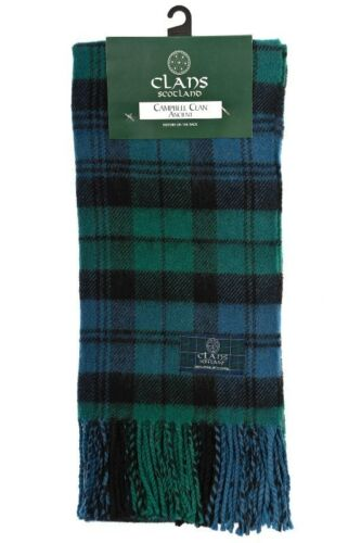 Tartan Clan Scarf Quality Wool In Various Colours Clan Name A-G