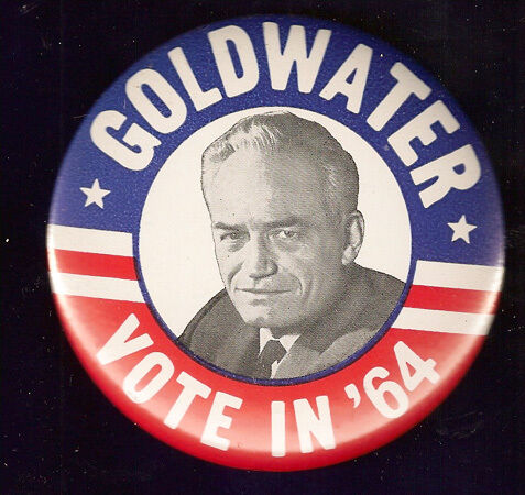 STUNNING  GOLDWATER VOTE IN /'64  CAMPAIGN  PINBACK