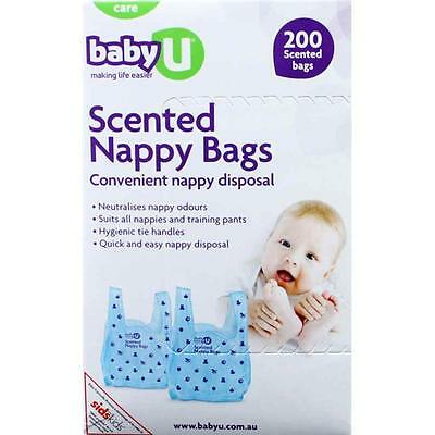 200 Fragranced Disposable Nappy Bags Nappy Sacks Nappy Bins