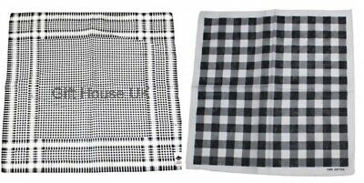 Black & White Arafat Percalle Design Bandana Headwear Sciarpa Wristwrap Headtie B4-mostra Il Titolo Originale