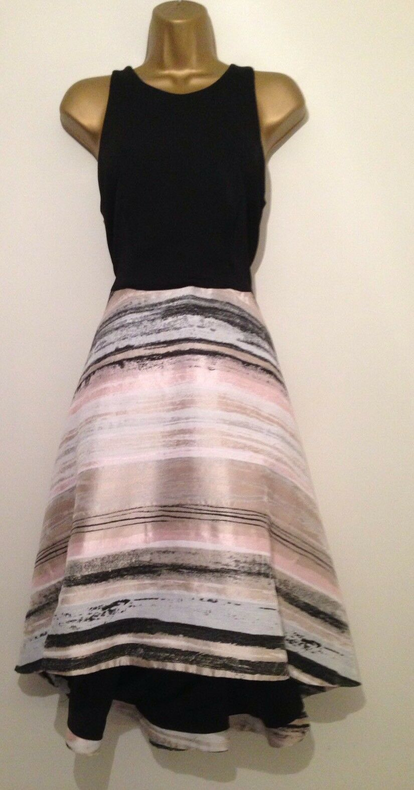 COAST Riley Stripe Netted Skirt Occasion Dress Size 14