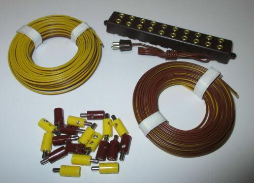 2,6mm Stecker Zwillingslitzen und Verteilerleiste mit Stecker  -NEU