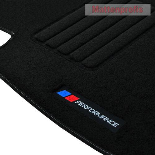 Tappetini professionisti velluto logo PB performance Tappetini Per BMW 5er e34 anno 1988-1997