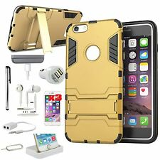 11 in 1 Accessory Kit Gold Case Cover Charger For iPhone 6 Plus/iPhone 6S Plus
