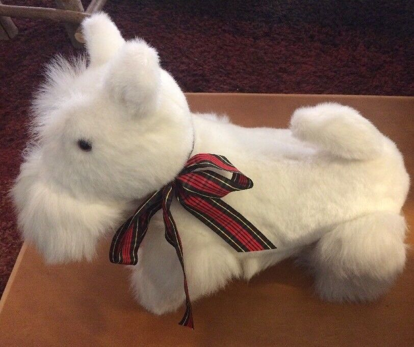 Old Dakin Jointed Weiß Scottie Puppy Dog Plush from 1984