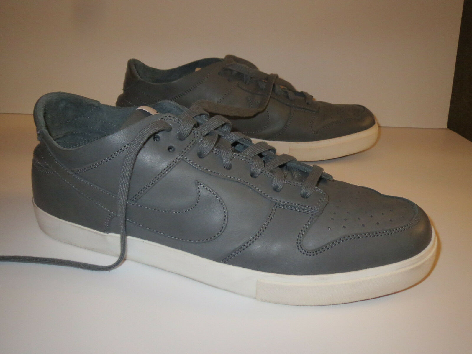 ee232d3c8ded1 Nike Sneakers Premium Mens Size 15 iD Dunk Gray Leather Leather Leather  Deconstruct Low Top Rare