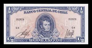 AgréAble B-d-m Chile 1/2 Escudo 1962 - 1975 Pick 134a Sc Unc Ferme En Structure