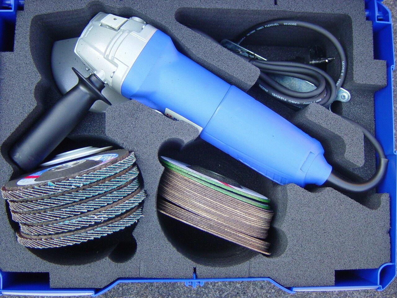 Winkelschleifer mit Koffer+Scheiben BAG-125-2, 900 W, 11500 umd 125 mm,  217708
