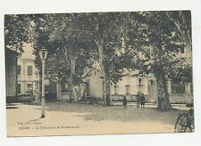 DIGNE FRANCE  VIEW OF  PARK OR COURTYARD GENDARMERIE  1900 POSTCARD