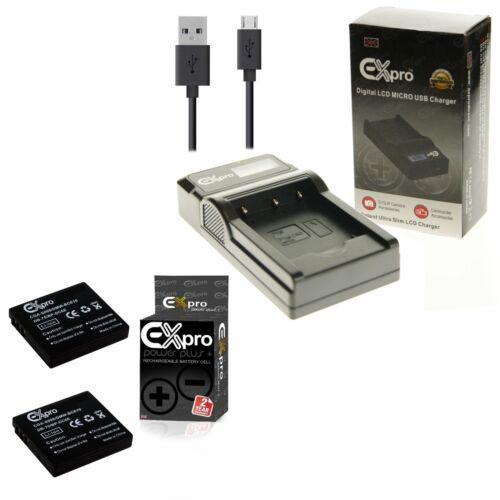 USB LED CGA-S008E Cargador Para P @ S26 SW20 SW28 2x batería de la Cámara