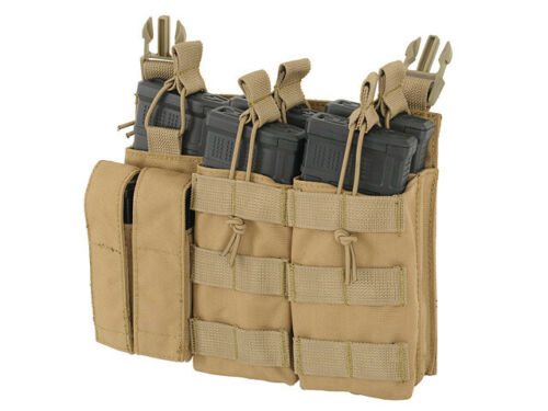 Airsoft Buckle Up GBB AEG 2 X 5 Front Panel MC ammo  pouch  molle