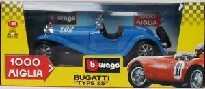 BURAGO-1238-BUGATTI-1000-MIGLIA-034-TYPE-55-034-1932-SPECIAL-COLLECTION-MADE-IN-ITALY