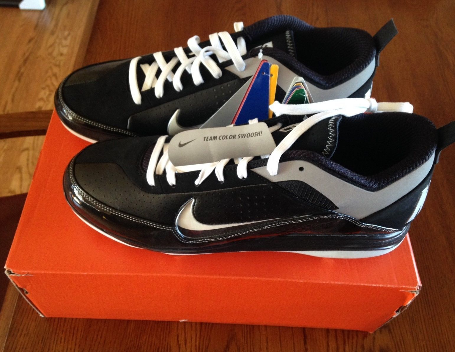The latest discount shoes for men and women MENS NIKE AIR SHOW ELITE 2 BLACK BASEBALL METAL SPIKES Comfortable