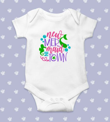 New Mermaid in Town Baby BodysuitBaby Shower GiftCute Baby ClothesFunny