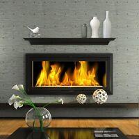 Fireplace Mantel Shelf Black Wood Modern Decor Living Room Wall Hanging 60