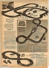 1964 ADVERT Marx Grand Prix Car Auto Road Race Set Indianapolis Speedway Eldon