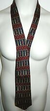 Tommy Hilfiger Men's Golf Clubs Bag Red Blue Pattern Necktie Tie Gently Used