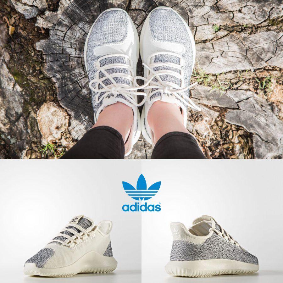 Adidas Original Tubular Shadow Unisexe Gris Blanc Blanc BY9739 Baskets Taille 4-11