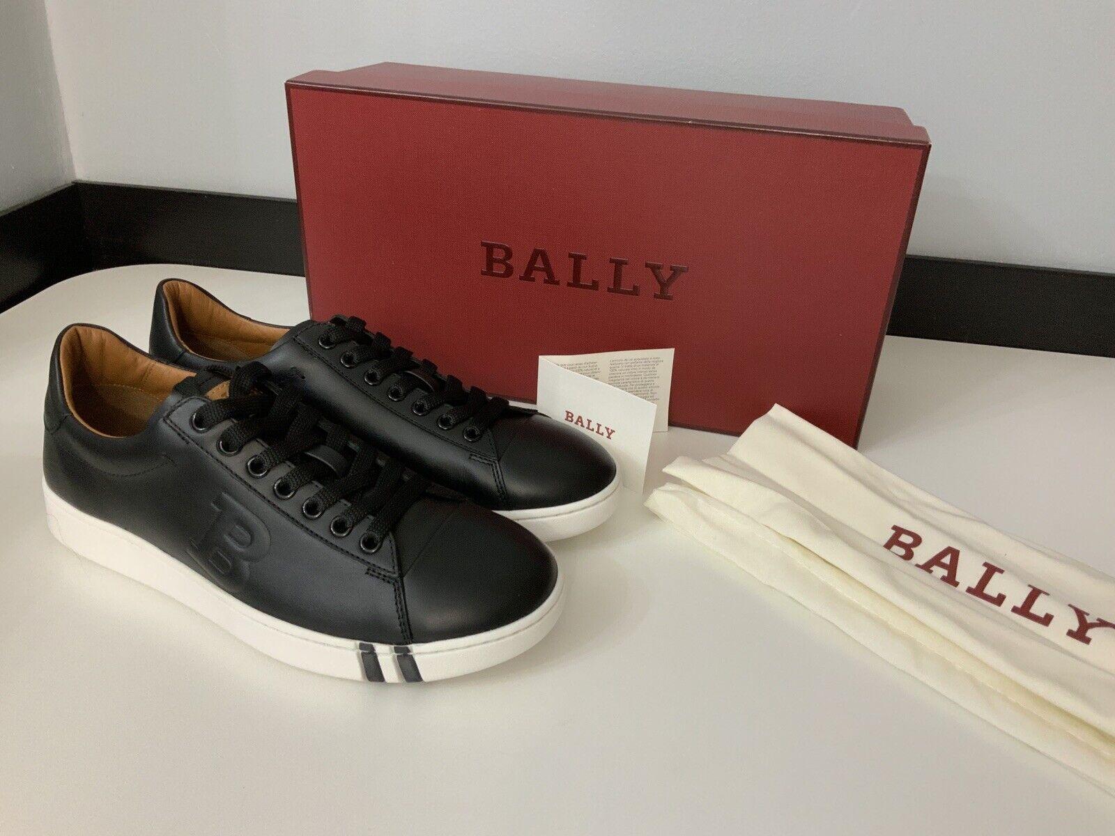 Nuevas zapatillas de cuero negro Bally Entrenadores Nuevo Y En Caja Reino Unido 5.5 Caja Low Top