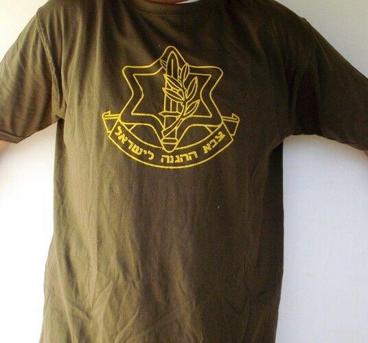 Adult TShirt Israel Defense Forces Army IDF Logo 100% Cotton Unisex X2