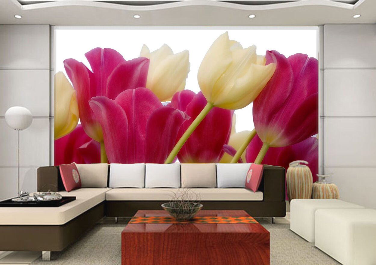 3D Pretty Tulip Flowers 2733 Paper Wall Print Wall Decal Wall Deco Indoor Murals