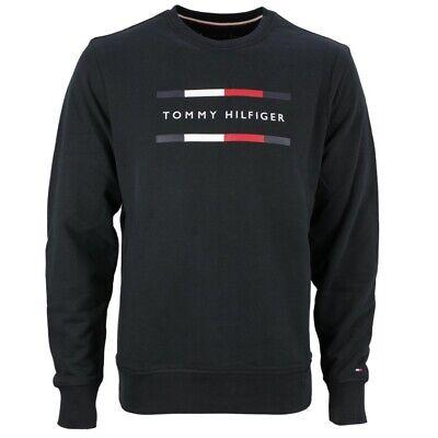 Dettagli su Tommy Hilfiger Felpa Uomo Maglia Nera Tinta Unita MW0MW11603 Bas