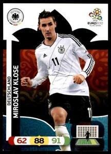 Panini-euro-2012-ADRENALYN-XL-Deutschland-Miroslav-Klose-tarjeta-base