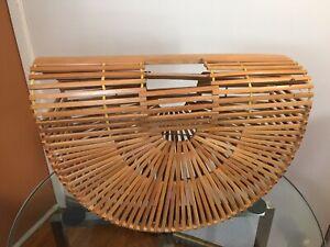 Vintage Bamboo Ladies Purse Bag Tiki 1950s Style rattan Hawaii