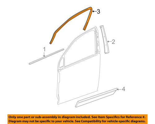 GM OEM Front Door-Reveal Molding 25862650